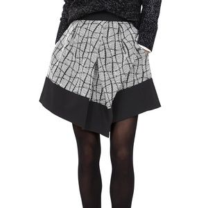 Banana Republic Asymmetrical Jacquard Skirt